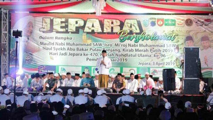 Jepara Bersholawat Bersama Habib Ali Zaenal Abidin Assegaf, Dandim Jepara Hadir Secara Langsung