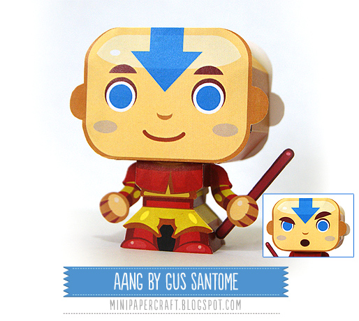 Avatar 2 Toys: Mini Papercraft: Aang From Avatar : The Last Airbender