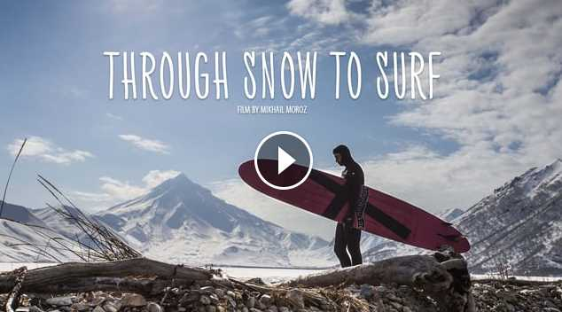 Through snow to surf