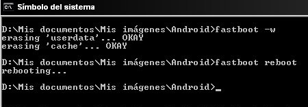 tutorial de uso y listado de comandos para Android