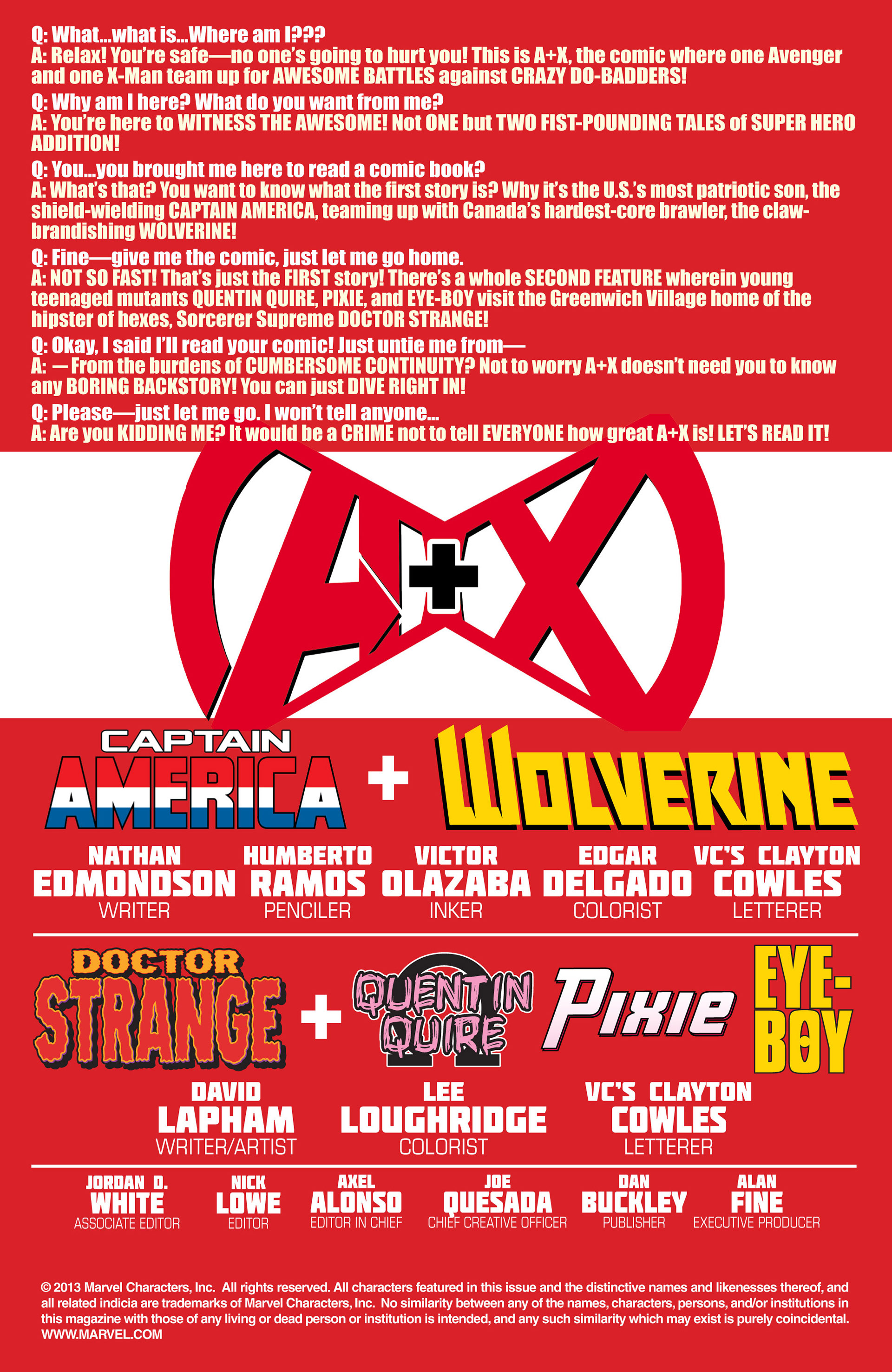 Read online A X comic -  Issue #9 - 2