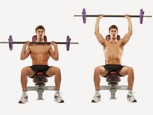 تمرين البار الامامى لتدريب عضلات الاكتاف فديو
