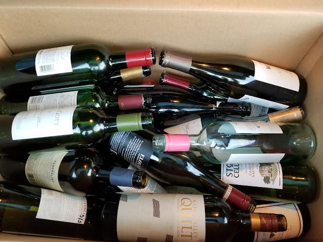 Wine Bottes Centerpiece
