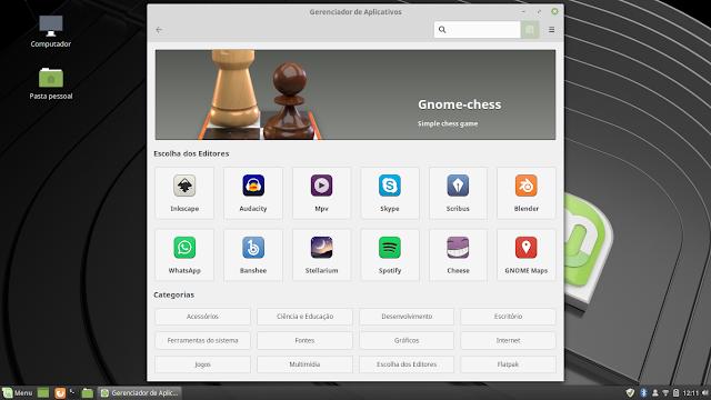 Loja de aplicativos Linux Mint