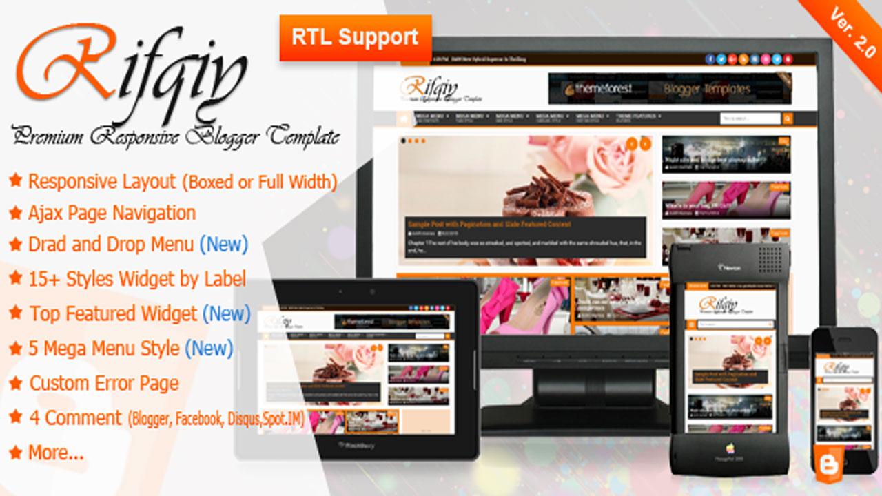 Rifqiy V20 Responsive Magazinenews Blogger Template Full Version