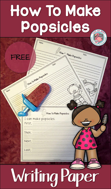 This is a set of 3 different pages for writing about how to make popsicles. What a refreshing way for kindergarten, first, and second graders to apply procedural writing skills at the end of the school year, during the summer, or at the beginning of school.