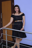 Mannara Chopra in Short Off Shoulder Black Dress ~  Exclusive 005.JPG