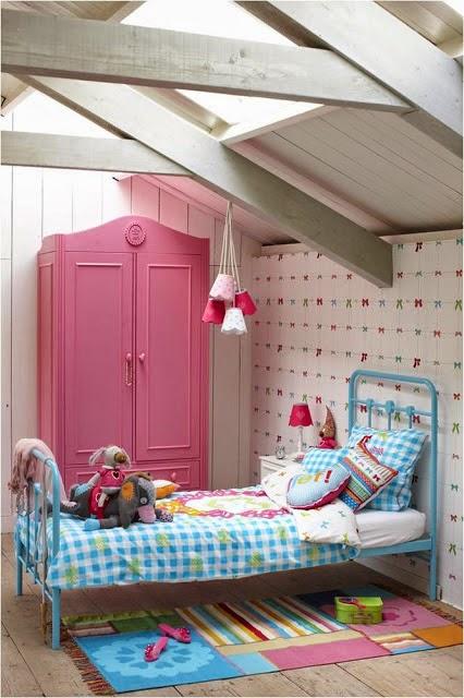 dormitorio para niña vintage