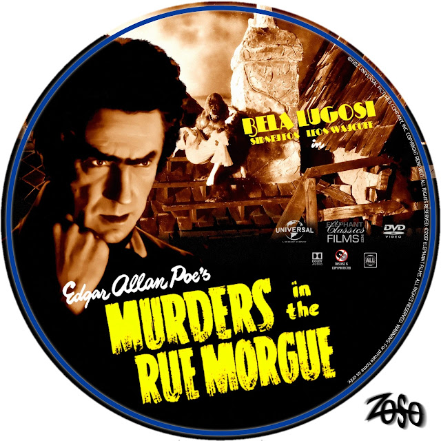 Murders in the Rue Morgue DVD Label