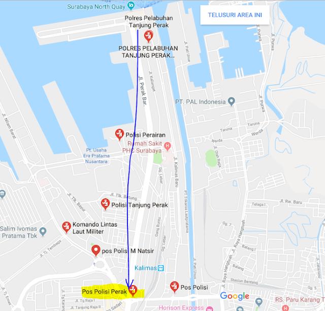 Titik Jemput Penumpang Ojek Online Gojek-Grab di Pelabuhan Tanjung Perak Surabaya