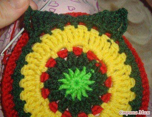 Cómo tejer un granny con figura de búho a crochet
