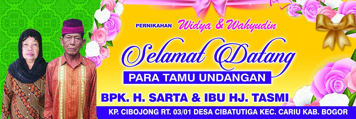 Banner Pernikahan Selamat Datang