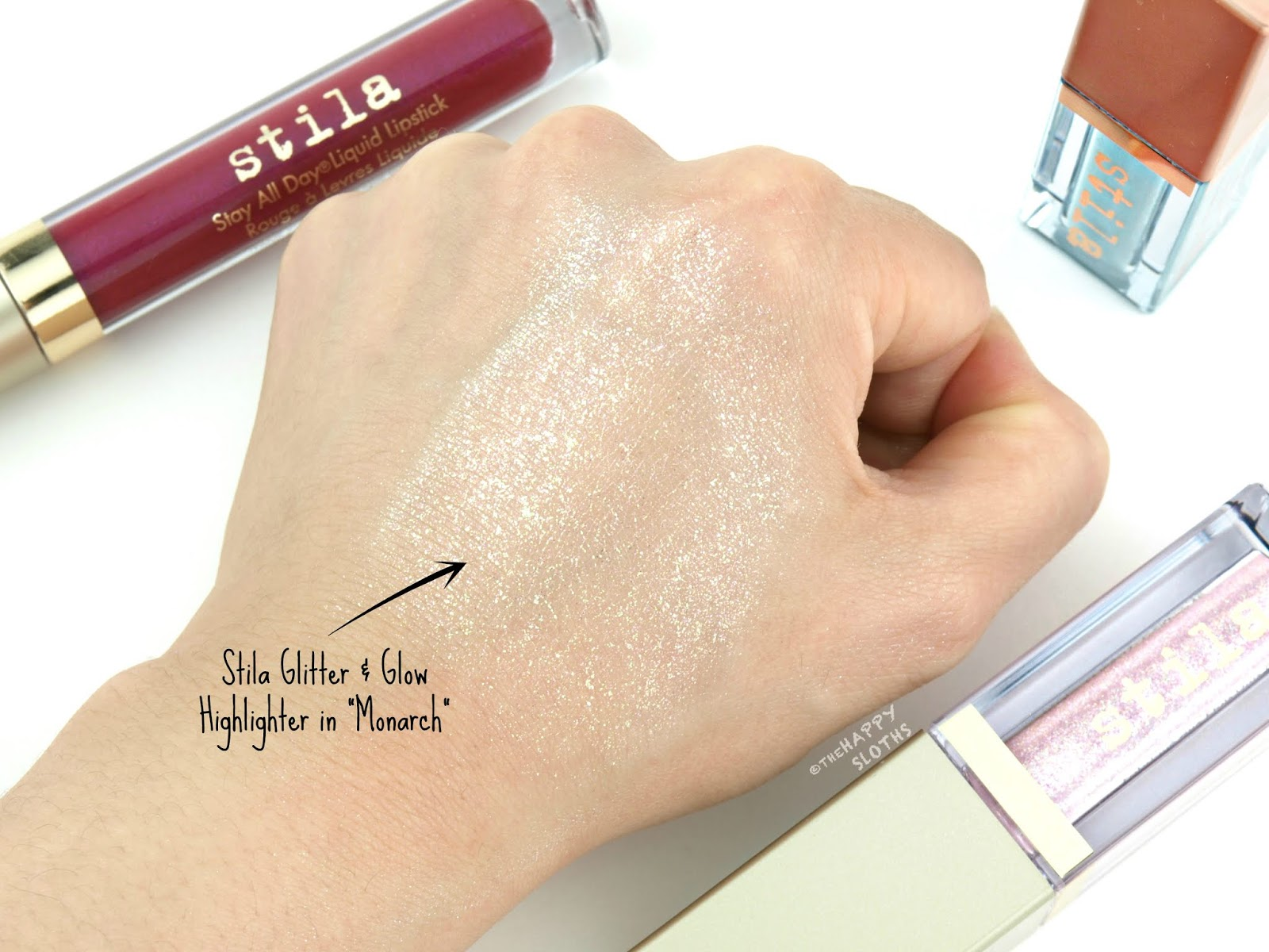 "Stila | Summer 2018 Glitter & Glow Highlighter in ""Monarch"": Review and Swatches"