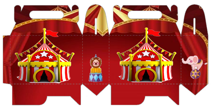 The Circus: Free Printable Lunch Box.