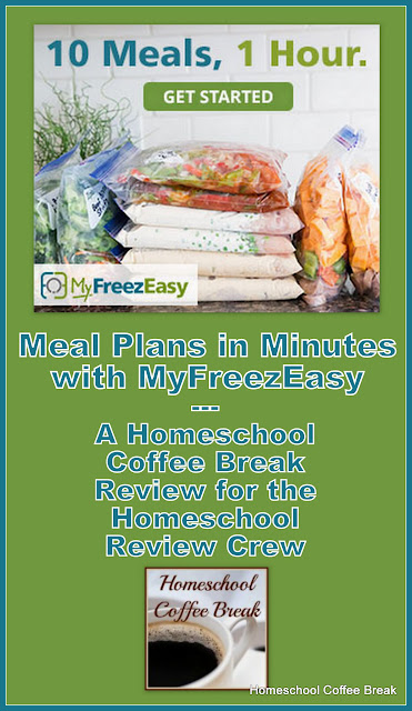 Meal Plans in Minutes with MyFreezEasy - A Homeschool Coffee Break Review for the Homeschool Review Crew @ kympossibleblog.blogspot.com