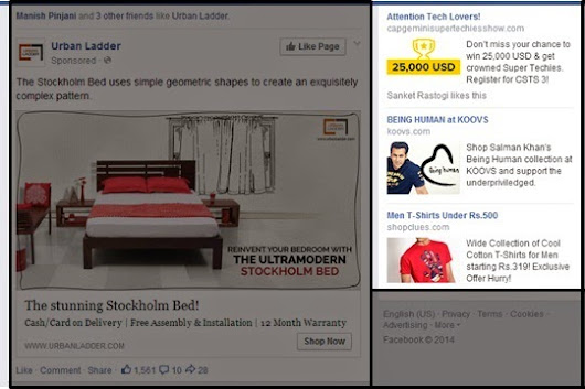 Facebook - A New Look for Ads in the Right-Hand Column