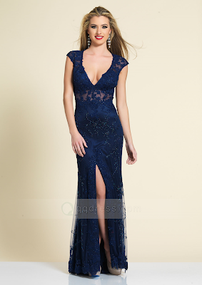 Sexy Siren Prom Dress with Split Front