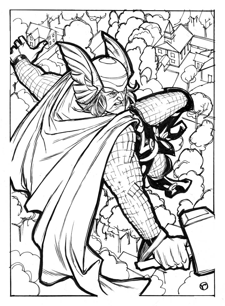 Thor Coloring Pictures - Coloring Pages