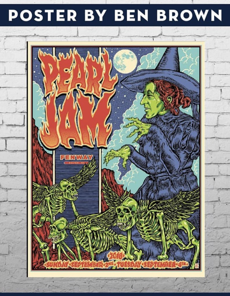 Inside The Rock Poster Frame Blog Pearl Jam Boston