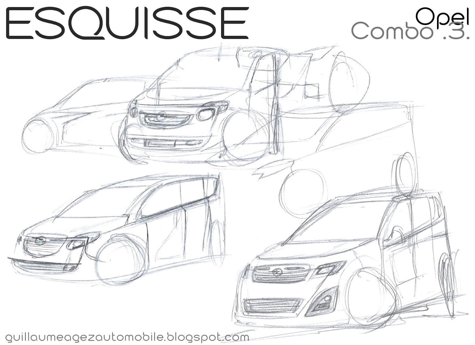 Guillaume Agez Automobile Esquisse Opel Combo 3