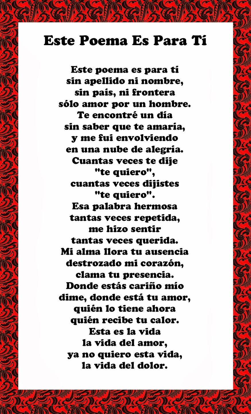 Spanish Love Quotes And Poems For Him Her: Love Poem Xiv Spanish
