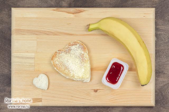 Сладкие сэндвичи с бананом: рецепт