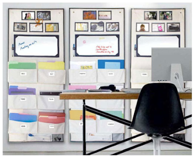 wall organizers in an office, polyester