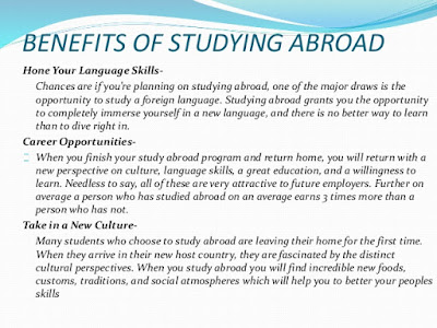 benefits and losses of study abroad 5 facts about overseas outsourcing before we present the five most important facts about overseas outsourcing with the gains and losses of jobs abroad.