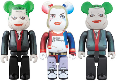 Suicide Squad Harley Quinn & The Joker Be@rbrick Vinyl Figures by Medicom