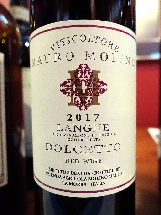 Mauro Molino Dolcetto Langhe 2017 (89 pts)