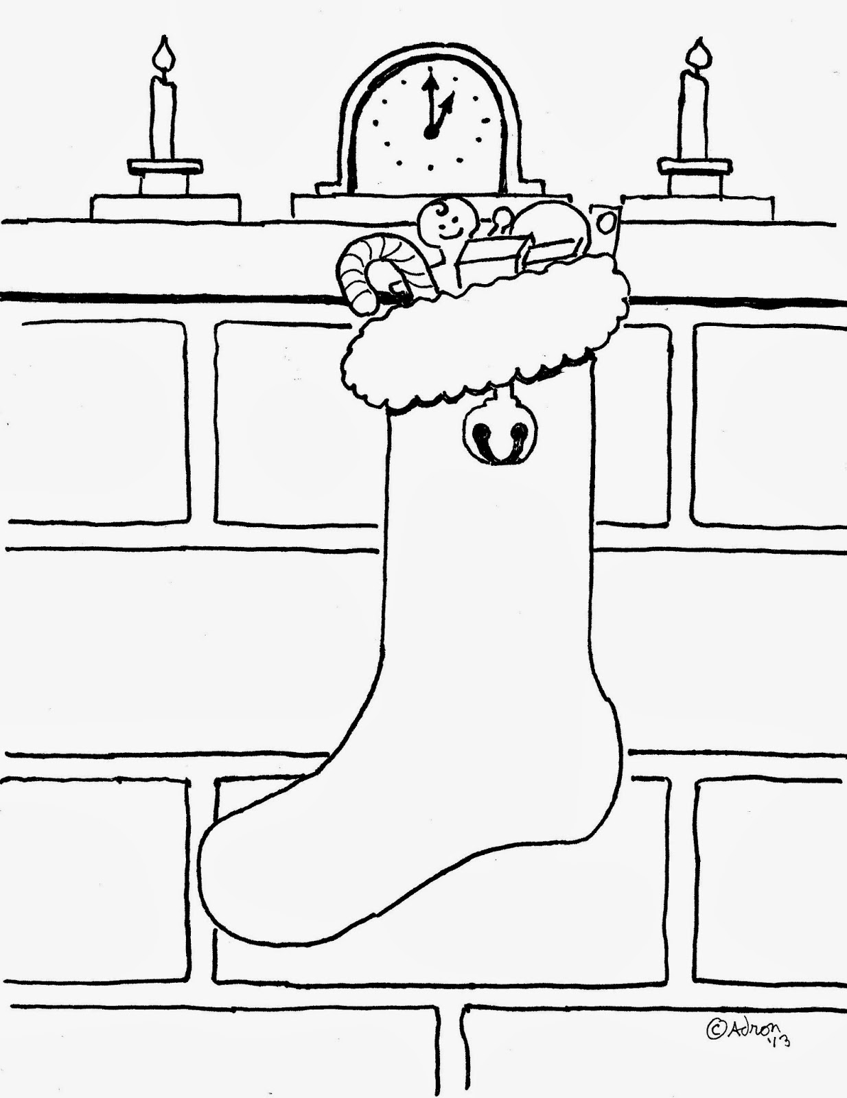 Coloring Pages For Kids By Mr Adron Christmas Stocking