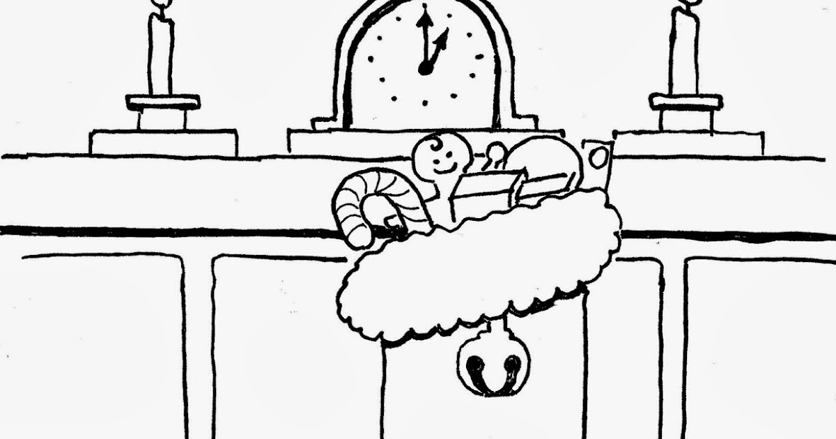 Coloring Pages for Kids by Mr. Adron: Christmas Stocking