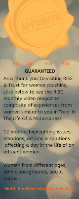 I am a happy, smiling, rich woman who loves Face Everything And RISE coaching for UHNW & HNW Women because I like to use RISE and Trust coaching
