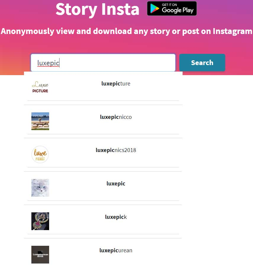 Story Insta - Instagram stories and Videos View & Download