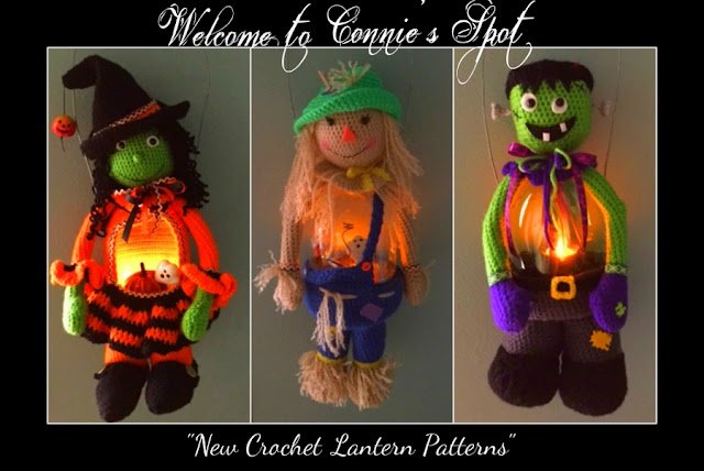 Crochet Soda Pop Bottle Lantern Patterns© By Connie Hughes Designs©