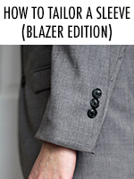 If the sleeves of your blazer are too long, don't fret - check out this DIY