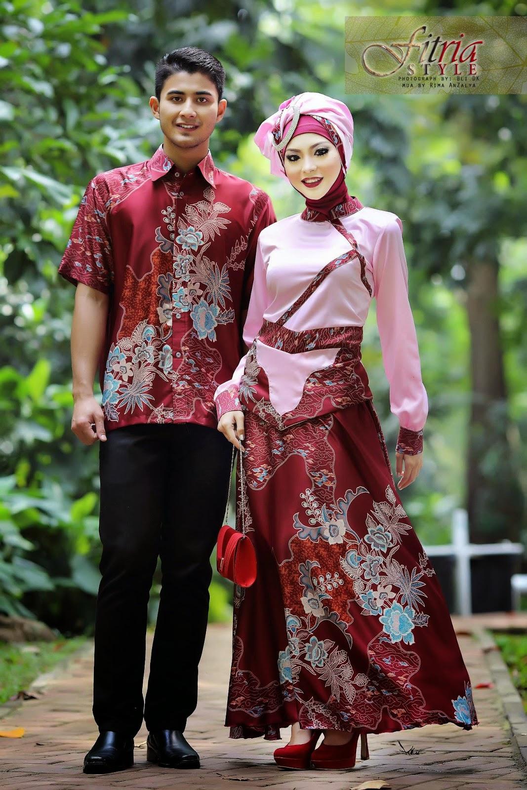16 Contoh Model Batik Muslim Pesta Modern Terbaik ...