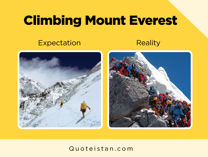 Expectation vs Reality: Climbing Mount Everest