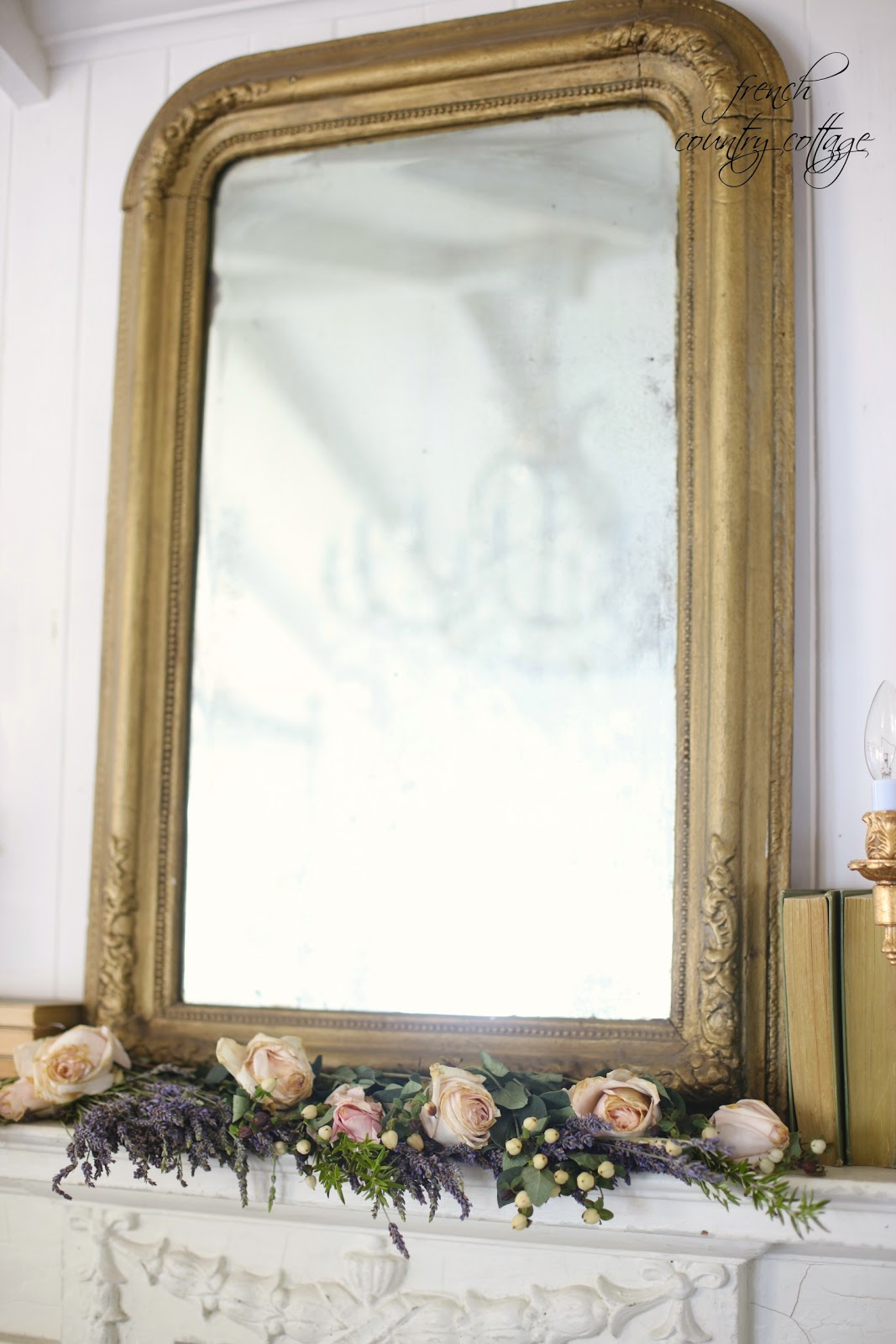 simple and easy way to transform a vintage mantel french