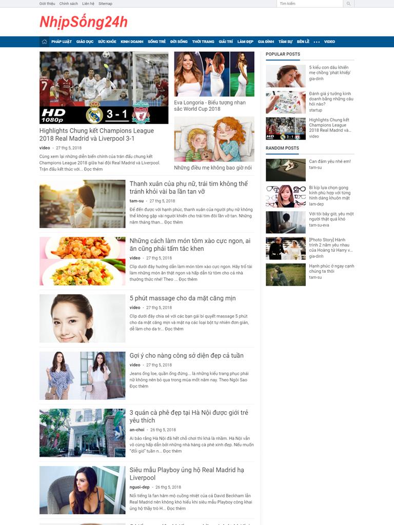 Template Blogspot News Magazine 2019 đẹp tinh tế - Ảnh 1