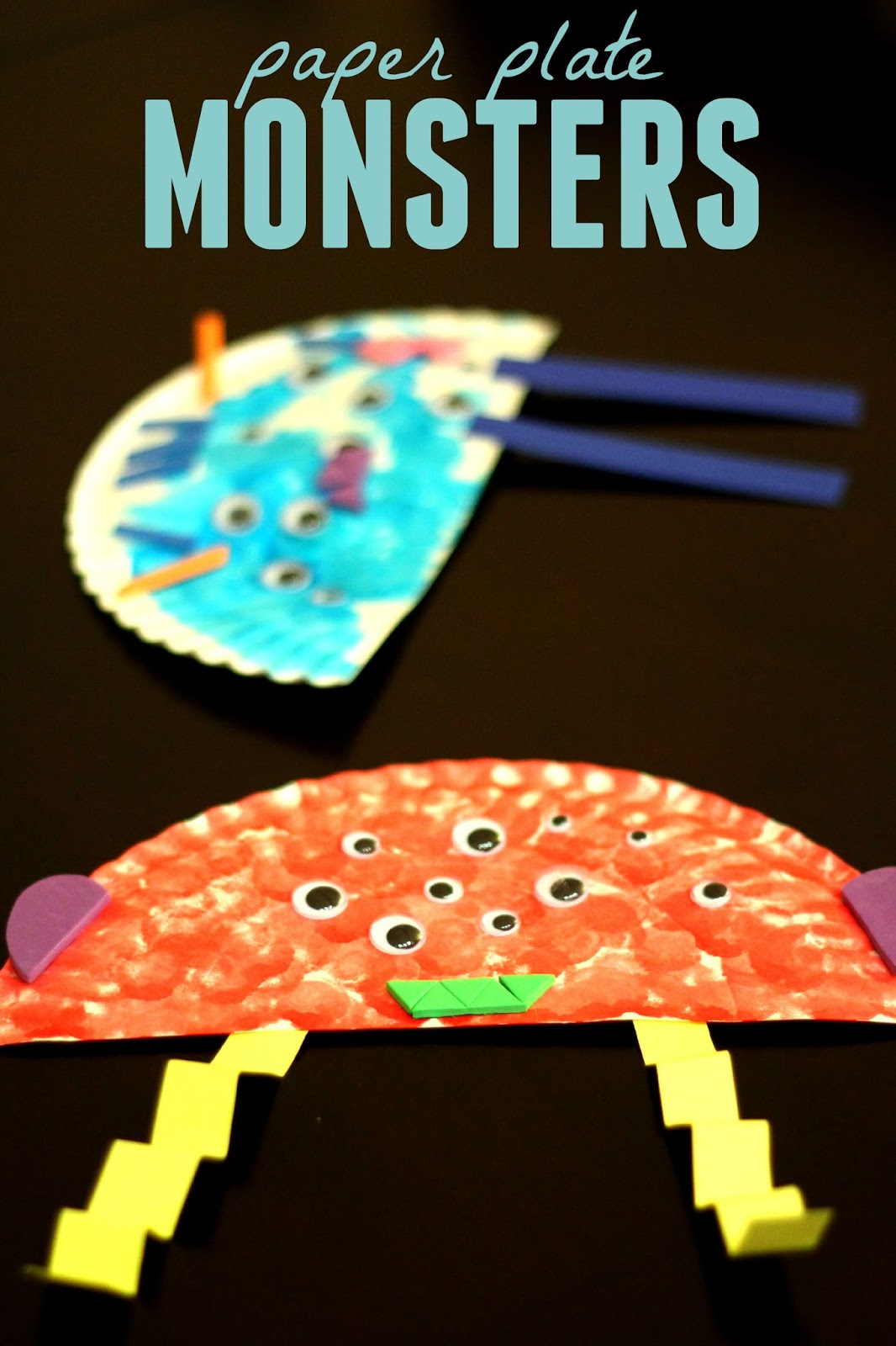 Toddler Approved Paper Plate Monster Craft