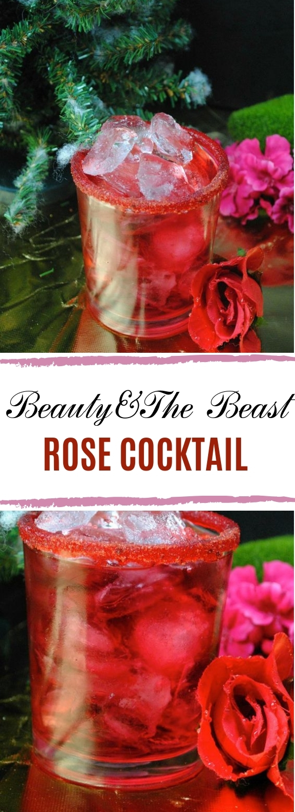 The Beauty and The Beast Rose Cocktail #drinks #cocktails