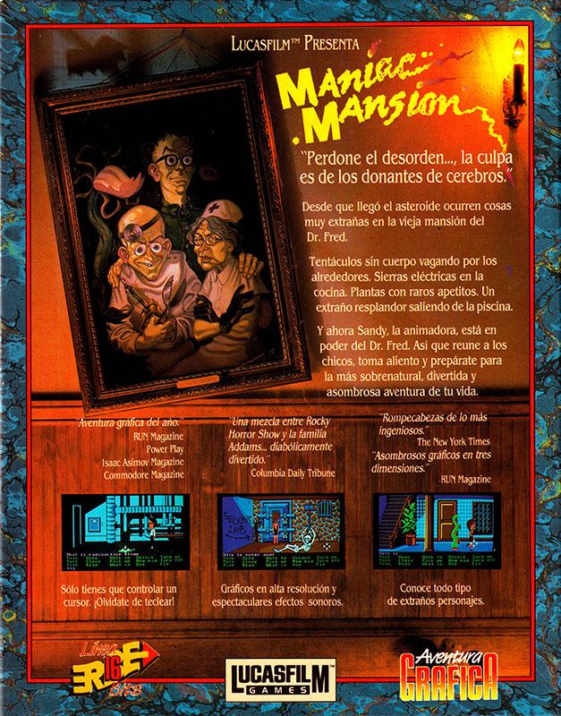 Maniac Mansion Caja trasera