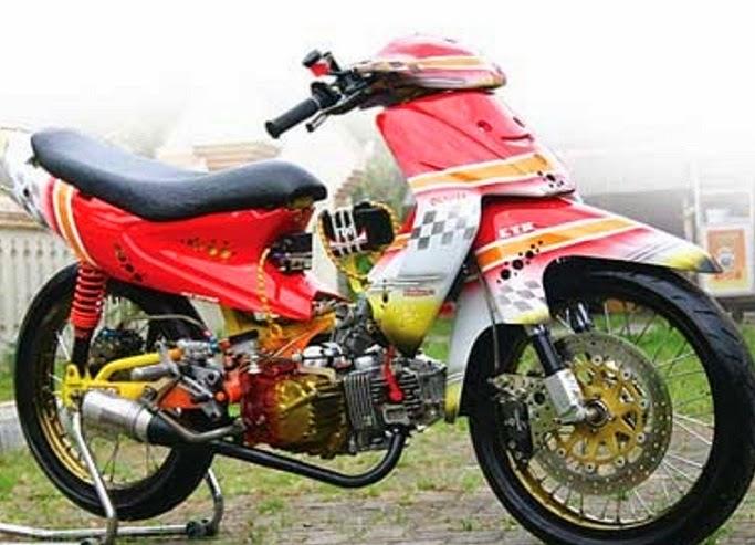 40+ Modifikasi Motor Smash New Terkeren 2014