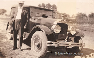 Walter Davis and his car https://jollettetc.blogspot.com
