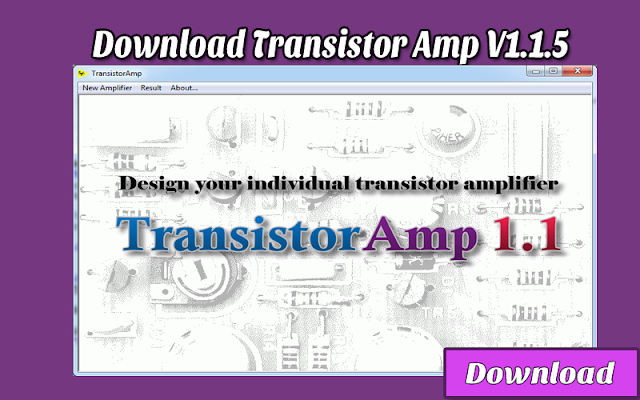 Download TransistorAmp 1.1.5 | Kalkulator / Info & Softwares Elektronika