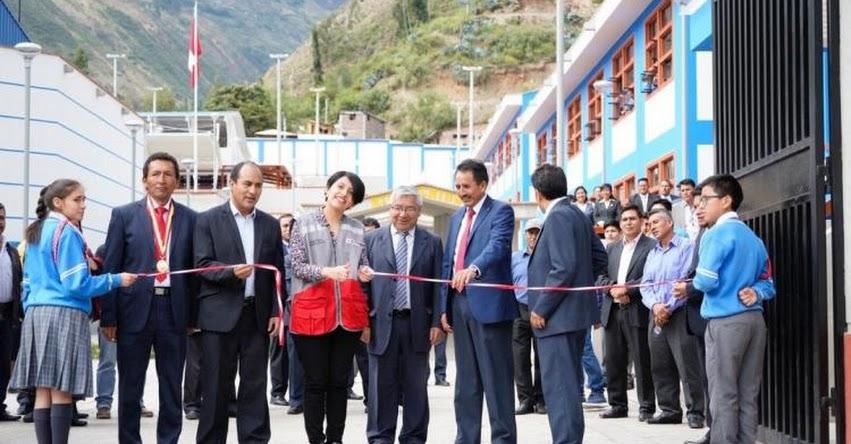 PRONIED: Inauguran remodeladas instalaciones del colegio emblemático Capitán Marcelino Valverde Solózarno de Sihuas - www.pronied.gob.pe