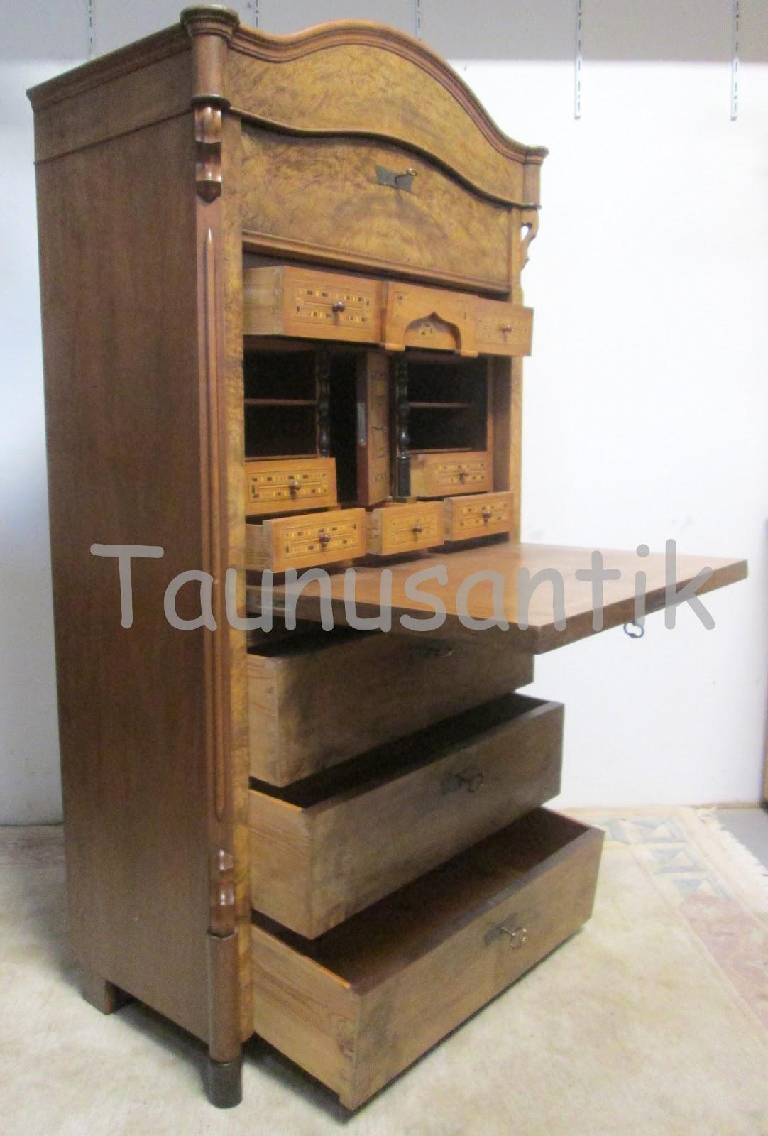 designer antik m bel holz schreibtisch sekret r. Black Bedroom Furniture Sets. Home Design Ideas