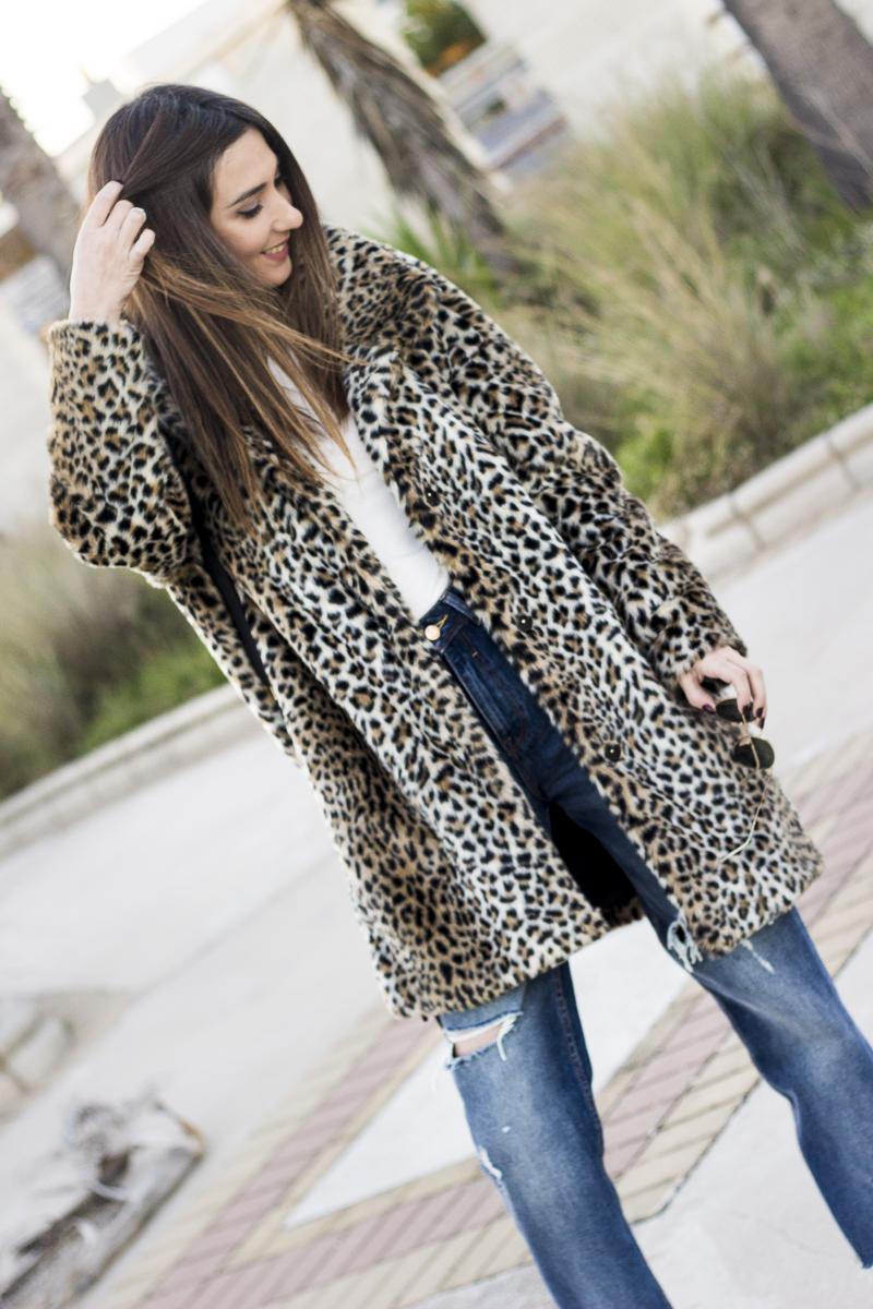 zara leopard fur coat