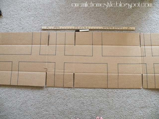 Cardboard city outline